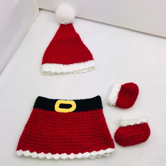 Other - Crochet Christmas Baby Outfit